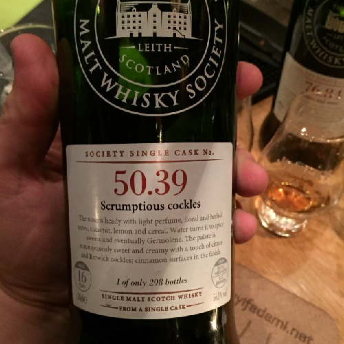 SMWS 50.39 - Scrumptious Cockles